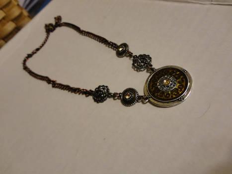 Bronze steampunk necklace1