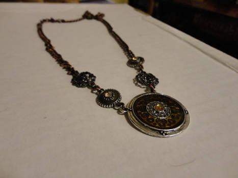 Bronze steampunk necklace2