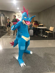 Feraligatr cosplay (NYCC 2018) by JumboDS64