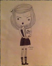 Goth schoolgirl by LaetitiaEvalia