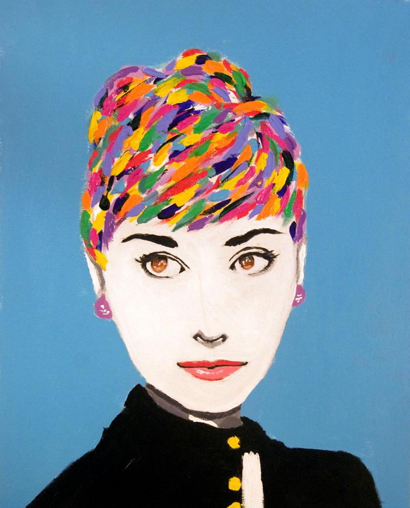 Audrey Hepburn Pop-Art by Nabbers on DeviantArt