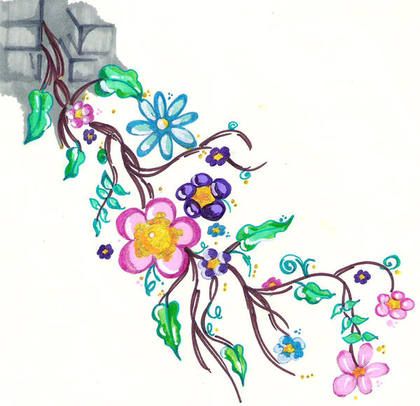 Flower Tattoo With Vines: Flower Vine Tattoo Design By Scandalouscombo On DeviantArt