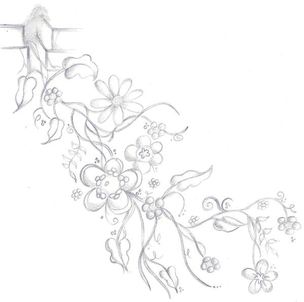 Tattoo Designs Vines And Flowers: Flower Vine Tattoo Design B+w By Scandalouscombo On DeviantArt
