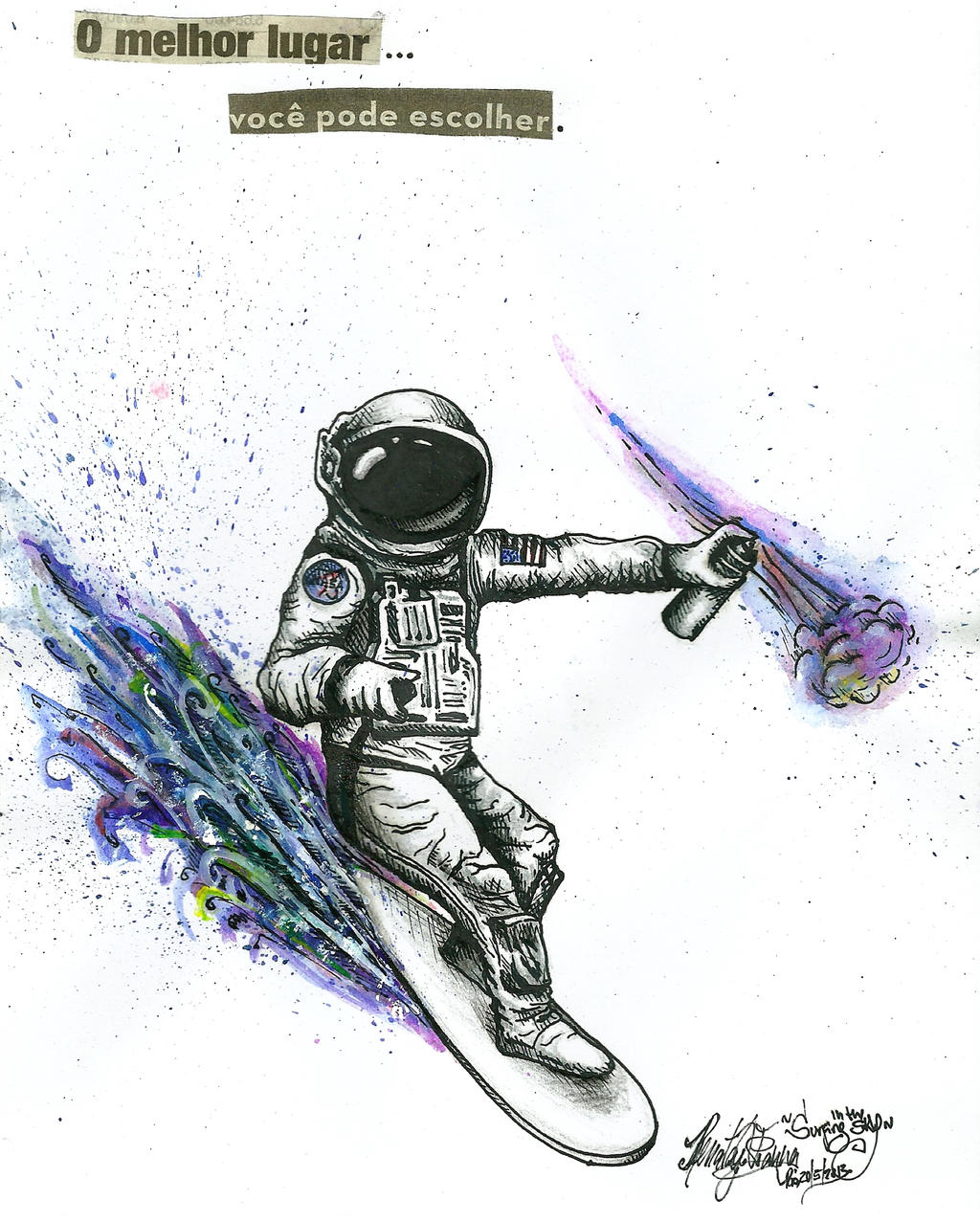 Surfer Astronaut by renatavianna on DeviantArt