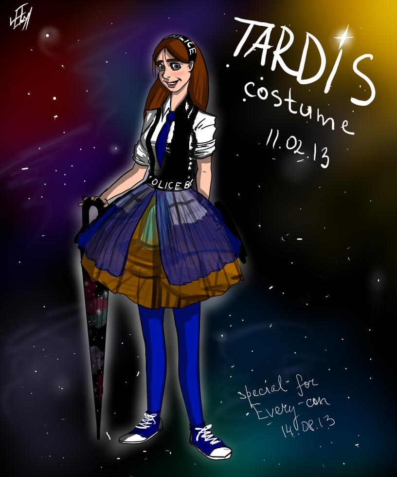 TARDIS costume by LeenaKill