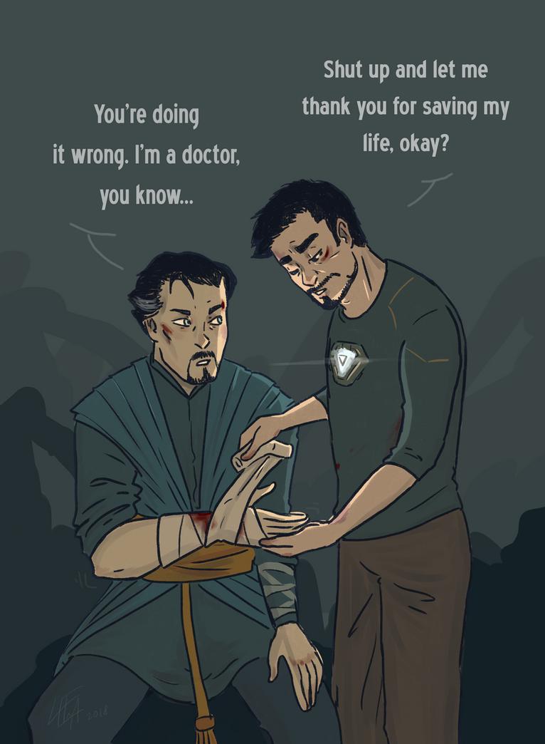Bandaging by LeenaKill