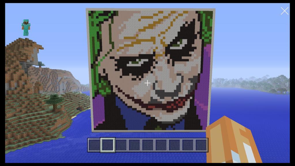 The Joker Pixel Art Minecraft By Dawiid59 On DeviantArt
