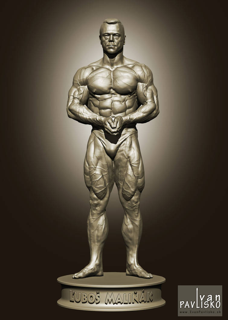 3D sculpture of bodybuilder by Ohnisko