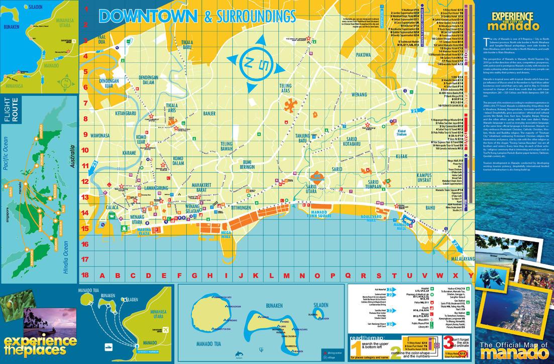 Peta Pariwisata Kota Manado by farlydapamanis