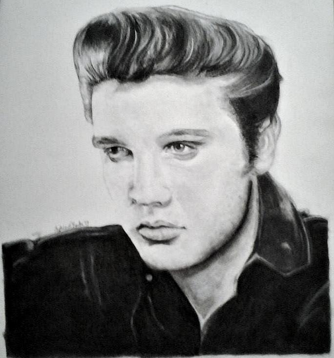 Elvis Portrait by ashleyrclarke