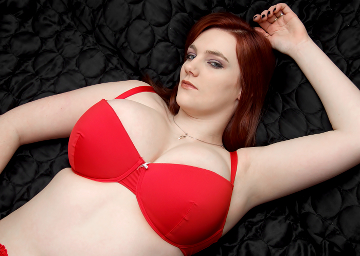 Bbw in red lingerie
