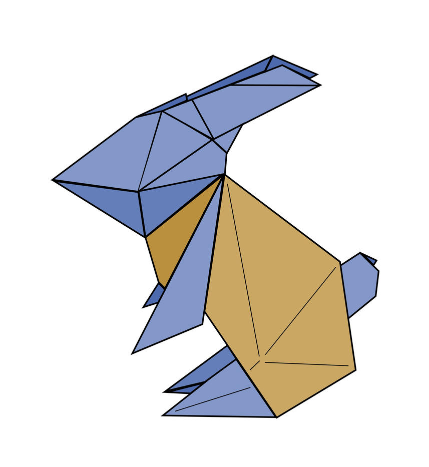 Origami Rabbit - To The Moon by stphq