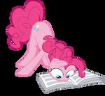 Pinkie reading newspaper