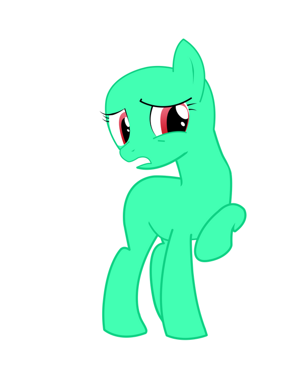 Awkward base Earth pony by Mokrosuhibrijac