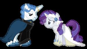 Pony Wedding Commission: Fancy Pants x Rarity