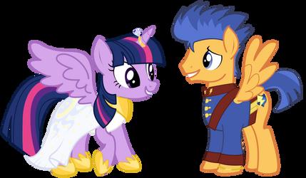 Pony Wedding Commission: Twilight x Flash by Mokrosuhibrijac