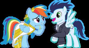 Pony Wedding Commission: Soarin x Rainbow Dash