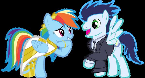 Pony Wedding Commission: Soarin x Rainbow Dash by Mokrosuhibrijac