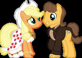 Pony Wedding Commission: Applejack x Caramel by Mokrosuhibrijac