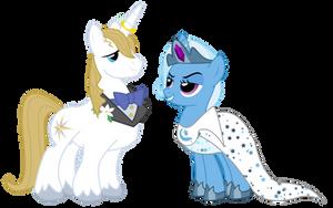 Pony Wedding Commission: Trixie x Blueblood by Mokrosuhibrijac