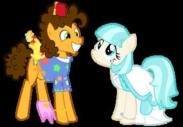 Pony Wedding Commission: Cheese x Coco by Mokrosuhibrijac