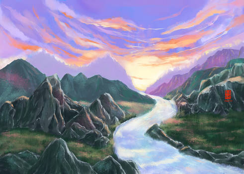 Forest Mountain Concept Practice 1/Aug/2016