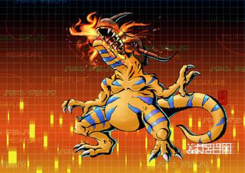 Greymon - Mega Flame