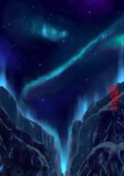 Aurora Sky Night Mountain Warm Up
