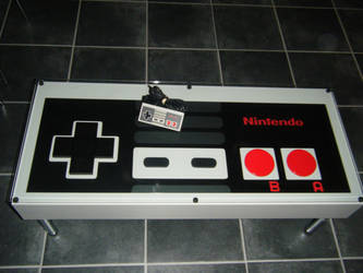 Giant NES pad coffee table by Hayden82
