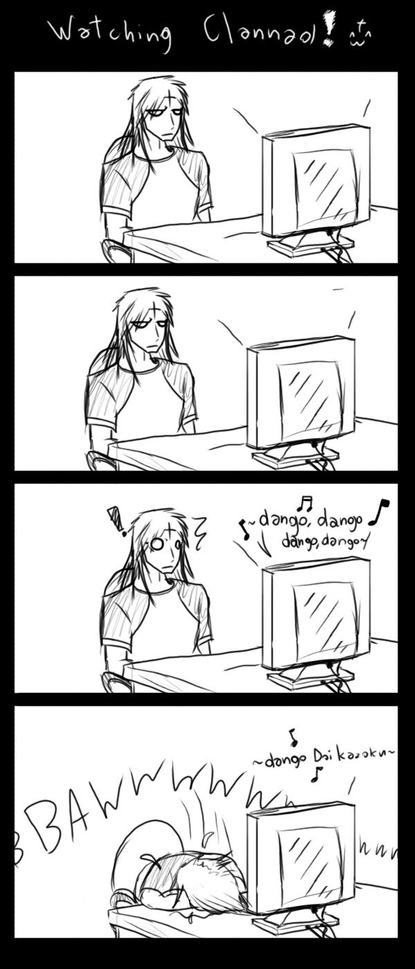 Watching Clannad by xDeadbrainx