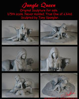 Jungle Queen Sculpt for sale by Spanglerart