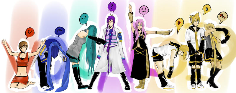Love And Joy Vocaloid. Vocaloid drawing thing by