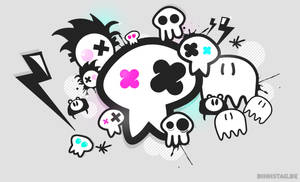 Skulls Monsters - Wallpaper