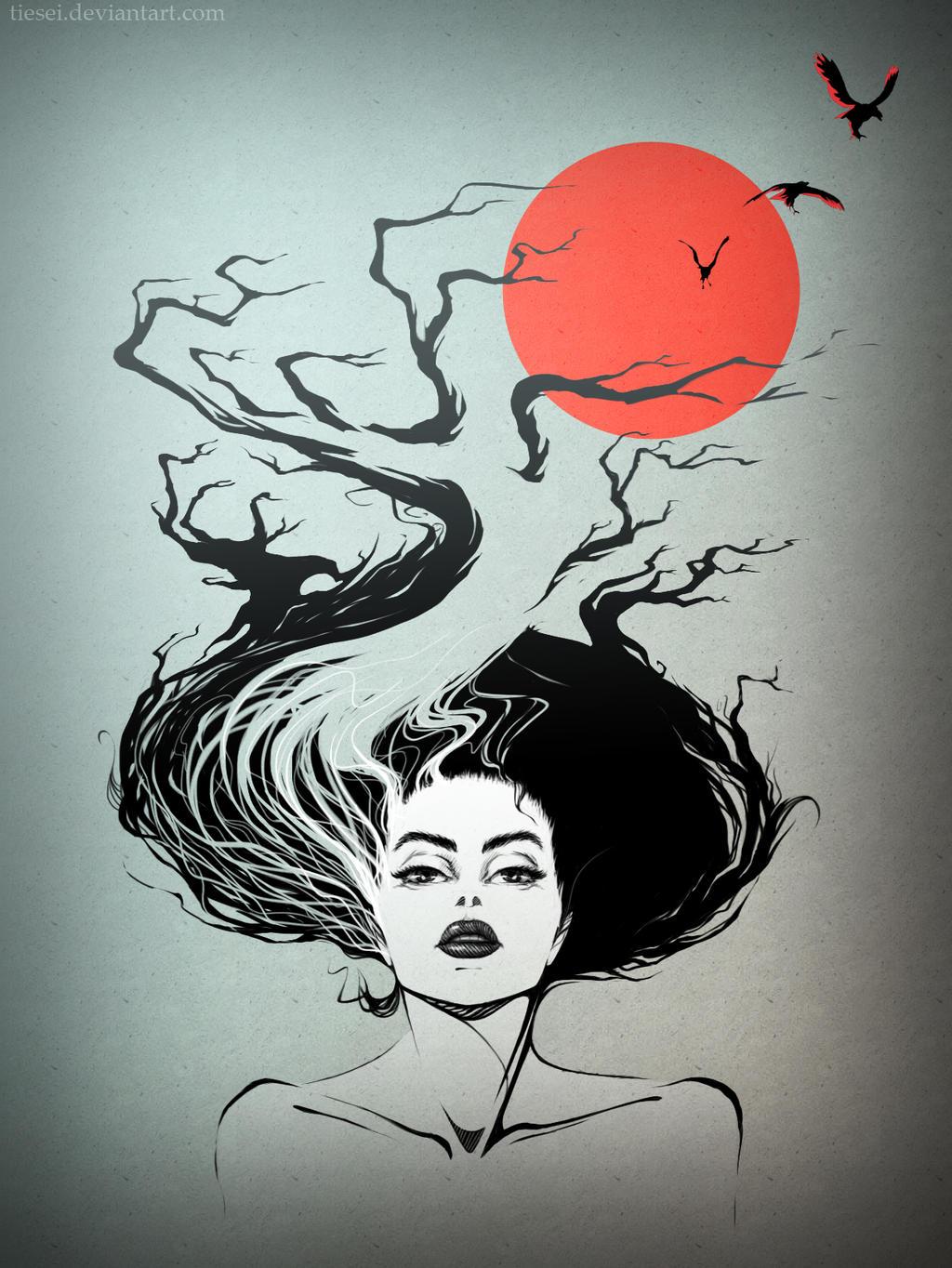 Crows in my head by Tiesei