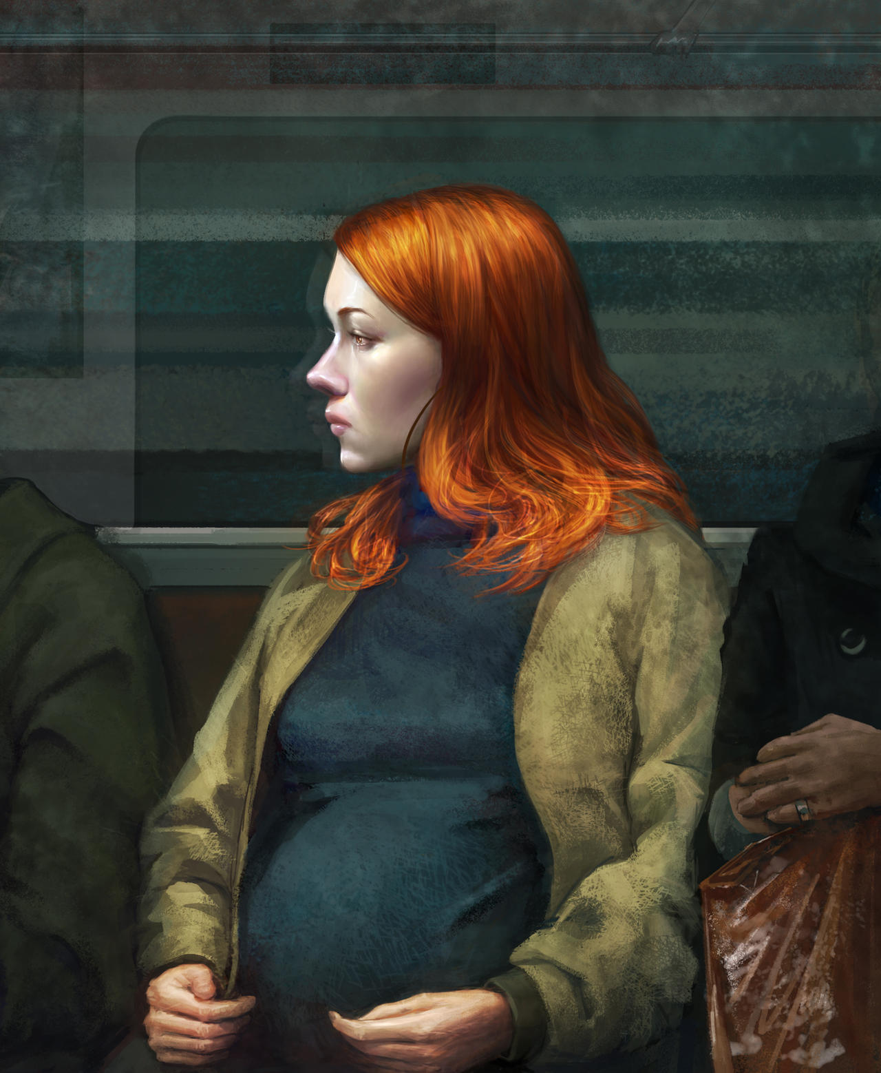 series: people in the subway by Tiesei