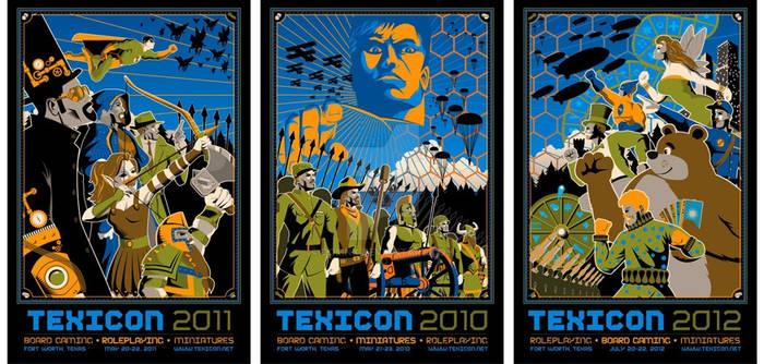 Texicon triptych