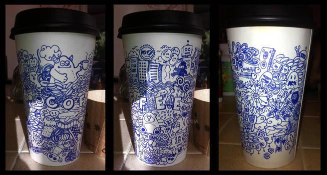 2 Sharpies, 1 Cup- Doodle