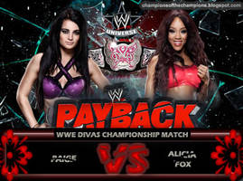 WWE Payback 2014 - Paige vs Alicia Fox by Jahar145