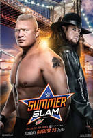 WWE SummerSlam 2015 Official Poster by Jahar145