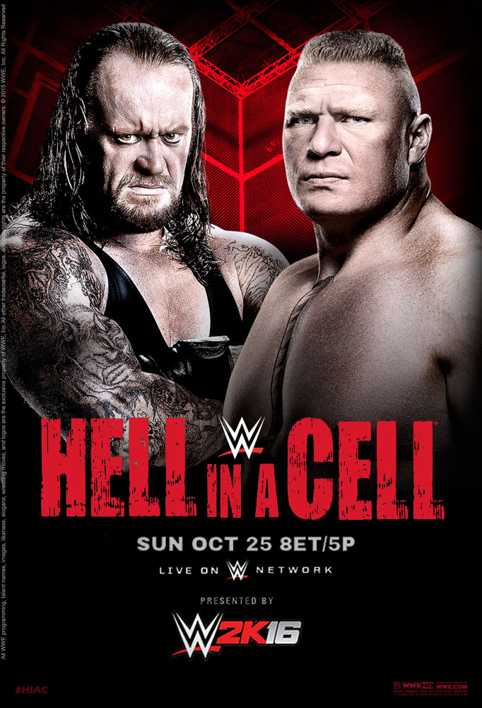 WWE Hell in a Cell 2015 Official Poster by Jahar145