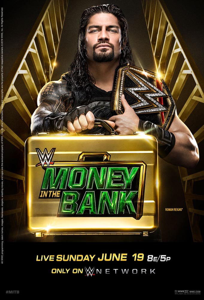 WWE Money in the Bank 2016 Official Poster by Jahar145