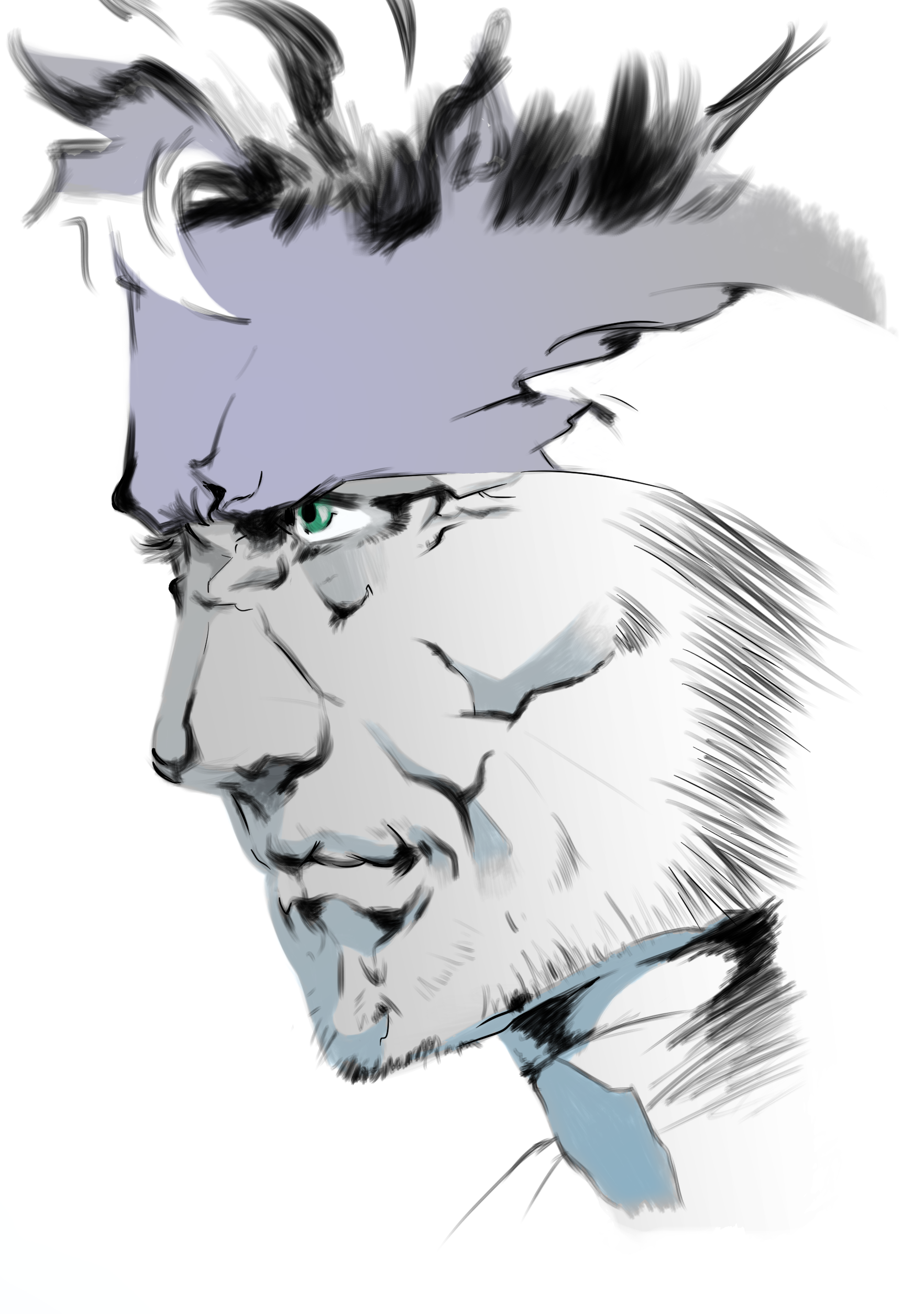 Drew Snake From Mgs2 First Time I Tried Something Outside