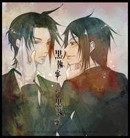 Kuroshitsuji : Kuro vs Kuro by mrsloth