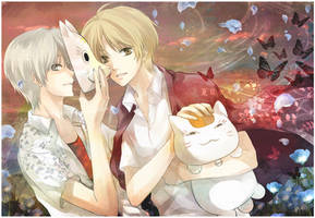 Natsume and Gin by mrsloth