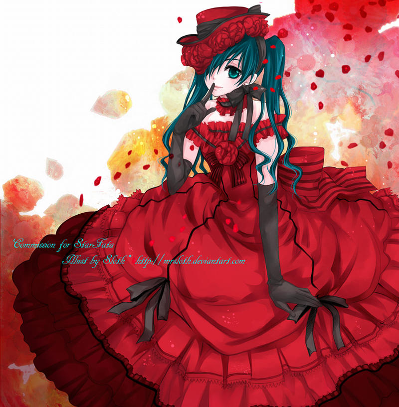 Commission : Ciel in Red by mrsloth
