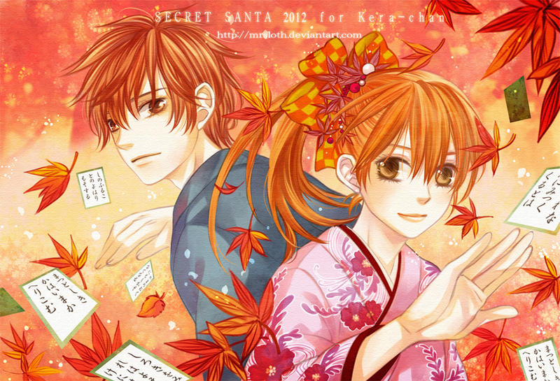 SS 2012 : Chihaya and Taichi by mrsloth