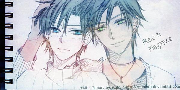 TMI : Alec and Magnus by mrsloth