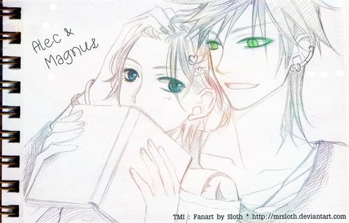 TMI : Alec and Magnus 002 by mrsloth