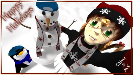 Snowman Selfie by picano