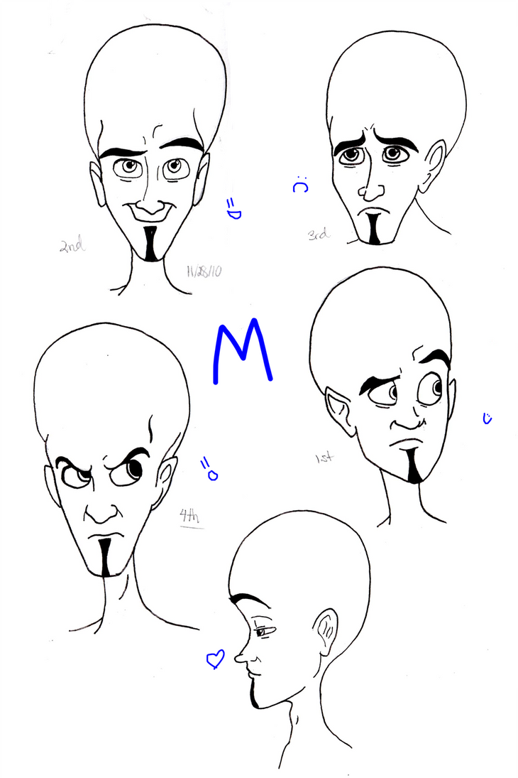 Megamind and his FACE by bluedragon155 on deviantART
